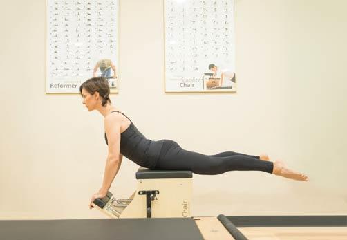 Pilates swan pose